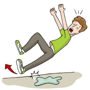 10 things to do after a slip and fall accident for Boden cartoon