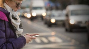 """Our car accident attorneys in New Jersey report on petextrians and """"distracted walking"""" accidents."""